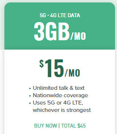 mint mobile $15 mo